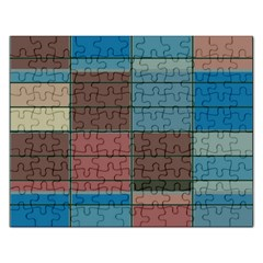 Rectangles In Retro Colors Pattern                      			jigsaw Puzzle (rectangular) by LalyLauraFLM