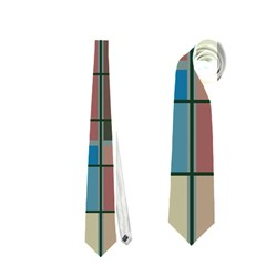 Rectangles In Retro Colors Pattern                      Necktie by LalyLauraFLM