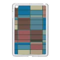 Rectangles In Retro Colors Pattern                      			apple Ipad Mini Case (white) by LalyLauraFLM