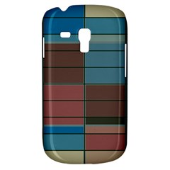 Rectangles In Retro Colors Pattern                      			samsung Galaxy S3 Mini I8190 Hardshell Case by LalyLauraFLM