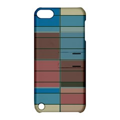 Rectangles In Retro Colors Pattern                      			apple Ipod Touch 5 Hardshell Case With Stand by LalyLauraFLM
