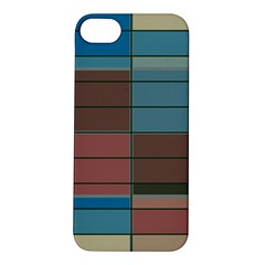 Rectangles In Retro Colors Pattern                      			apple Iphone 5s Hardshell Case by LalyLauraFLM