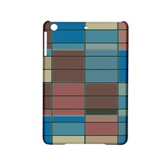 Rectangles In Retro Colors Pattern                      			apple Ipad Mini 2 Hardshell Case by LalyLauraFLM