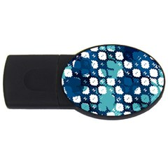 Blue Texture                       			usb Flash Drive Oval (4 Gb) by LalyLauraFLM