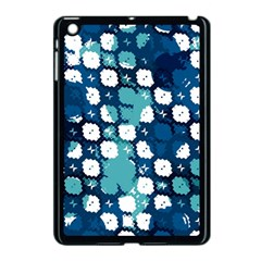 Blue Texture                       			apple Ipad Mini Case (black) by LalyLauraFLM