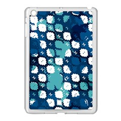 Blue Texture                       			apple Ipad Mini Case (white) by LalyLauraFLM