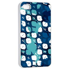 Blue Texture                       			apple Iphone 4/4s Seamless Case (white) by LalyLauraFLM