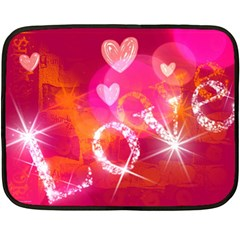 Love Double Sided Fleece Blanket (mini)