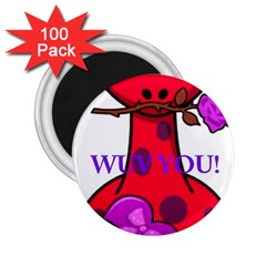 Wuv You! 2 25  Magnets (100 Pack)  by SugaPlumsEmporium