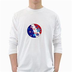 Vote 2016  White Long Sleeve T Shirts by SugaPlumsEmporium