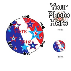 Vote 2016  Playing Cards 54 (round)  by SugaPlumsEmporium