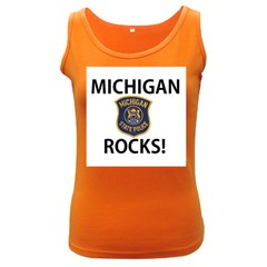 Michigan Rocks! Women s Dark Tank Top by SugaPlumsEmporium