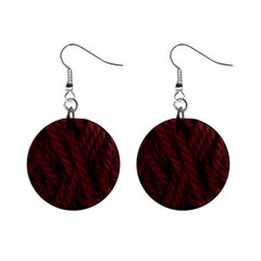 Burgandy Mini Button Earrings