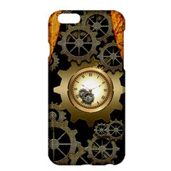 Steampunk Golden Design With Clocks And Gears Apple Iphone 6 Plus/6s Plus Hardshell Case by FantasyWorld7