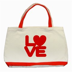 Love (01) Classic Tote Bag (red) by gooddeed