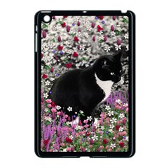 Freckles In Flowers Ii, Black White Tux Cat Apple Ipad Mini Case (black) by DianeClancy
