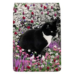 Freckles In Flowers Ii, Black White Tux Cat Flap Covers (l)  by DianeClancy