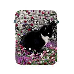 Freckles In Flowers Ii, Black White Tux Cat Apple Ipad 2/3/4 Protective Soft Cases by DianeClancy