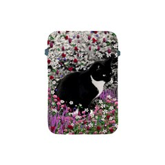Freckles In Flowers Ii, Black White Tux Cat Apple Ipad Mini Protective Soft Cases by DianeClancy