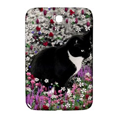 Freckles In Flowers Ii, Black White Tux Cat Samsung Galaxy Note 8 0 N5100 Hardshell Case  by DianeClancy