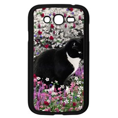 Freckles In Flowers Ii, Black White Tux Cat Samsung Galaxy Grand Duos I9082 Case (black) by DianeClancy