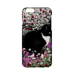 Freckles In Flowers Ii, Black White Tux Cat Apple Iphone 6/6s Hardshell Case by DianeClancy