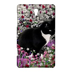 Freckles In Flowers Ii, Black White Tux Cat Samsung Galaxy Tab S (8 4 ) Hardshell Case  by DianeClancy