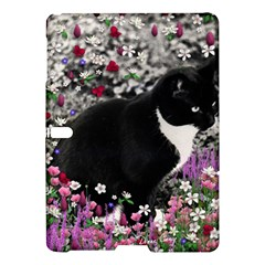 Freckles In Flowers Ii, Black White Tux Cat Samsung Galaxy Tab S (10 5 ) Hardshell Case  by DianeClancy