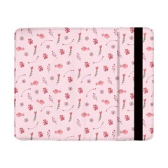 Cute Pink Birds And Flowers Pattern Samsung Galaxy Tab Pro 8 4  Flip Case by TastefulDesigns