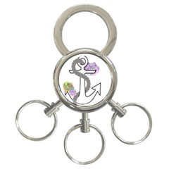 2 Combo Flowersa  3 Ring Key Chains by radioactivee