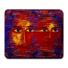 Conundrum Iii, Abstract Purple & Orange Goddess Large Mousepads by DianeClancy