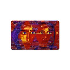 Conundrum Iii, Abstract Purple & Orange Goddess Magnet (name Card) by DianeClancy