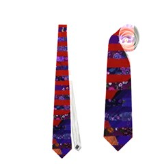 Conundrum Iii, Abstract Purple & Orange Goddess Neckties (one Side)  by DianeClancy