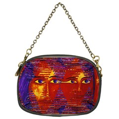 Conundrum Iii, Abstract Purple & Orange Goddess Chain Purses (one Side)  by DianeClancy