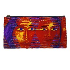 Conundrum Iii, Abstract Purple & Orange Goddess Pencil Cases by DianeClancy