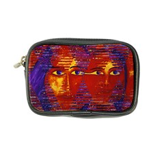 Conundrum Iii, Abstract Purple & Orange Goddess Coin Purse by DianeClancy