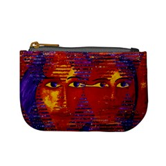 Conundrum Iii, Abstract Purple & Orange Goddess Mini Coin Purses by DianeClancy