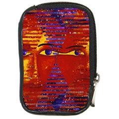 Conundrum Iii, Abstract Purple & Orange Goddess Compact Camera Cases by DianeClancy