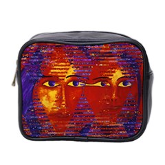 Conundrum Iii, Abstract Purple & Orange Goddess Mini Toiletries Bag 2 Side by DianeClancy