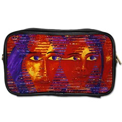 Conundrum Iii, Abstract Purple & Orange Goddess Toiletries Bags 2 Side by DianeClancy