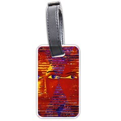 Conundrum Iii, Abstract Purple & Orange Goddess Luggage Tags (two Sides) by DianeClancy