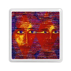 Conundrum Iii, Abstract Purple & Orange Goddess Memory Card Reader (square)  by DianeClancy