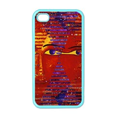 Conundrum Iii, Abstract Purple & Orange Goddess Apple Iphone 4 Case (color) by DianeClancy