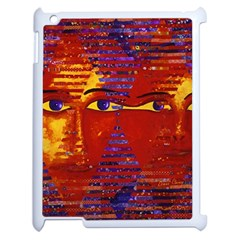 Conundrum Iii, Abstract Purple & Orange Goddess Apple Ipad 2 Case (white) by DianeClancy