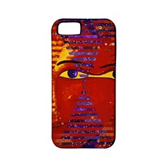 Conundrum Iii, Abstract Purple & Orange Goddess Apple Iphone 5 Classic Hardshell Case (pc+silicone) by DianeClancy