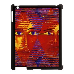 Conundrum Iii, Abstract Purple & Orange Goddess Apple Ipad 3/4 Case (black) by DianeClancy
