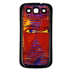 Conundrum Iii, Abstract Purple & Orange Goddess Samsung Galaxy S3 Back Case (black) by DianeClancy