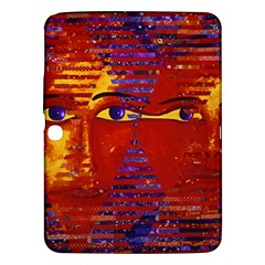 Conundrum Iii, Abstract Purple & Orange Goddess Samsung Galaxy Tab 3 (10 1 ) P5200 Hardshell Case  by DianeClancy