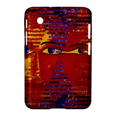 Conundrum Iii, Abstract Purple & Orange Goddess Samsung Galaxy Tab 2 (7 ) P3100 Hardshell Case  by DianeClancy