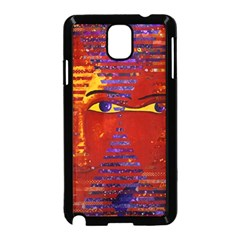 Conundrum Iii, Abstract Purple & Orange Goddess Samsung Galaxy Note 3 Neo Hardshell Case (black) by DianeClancy